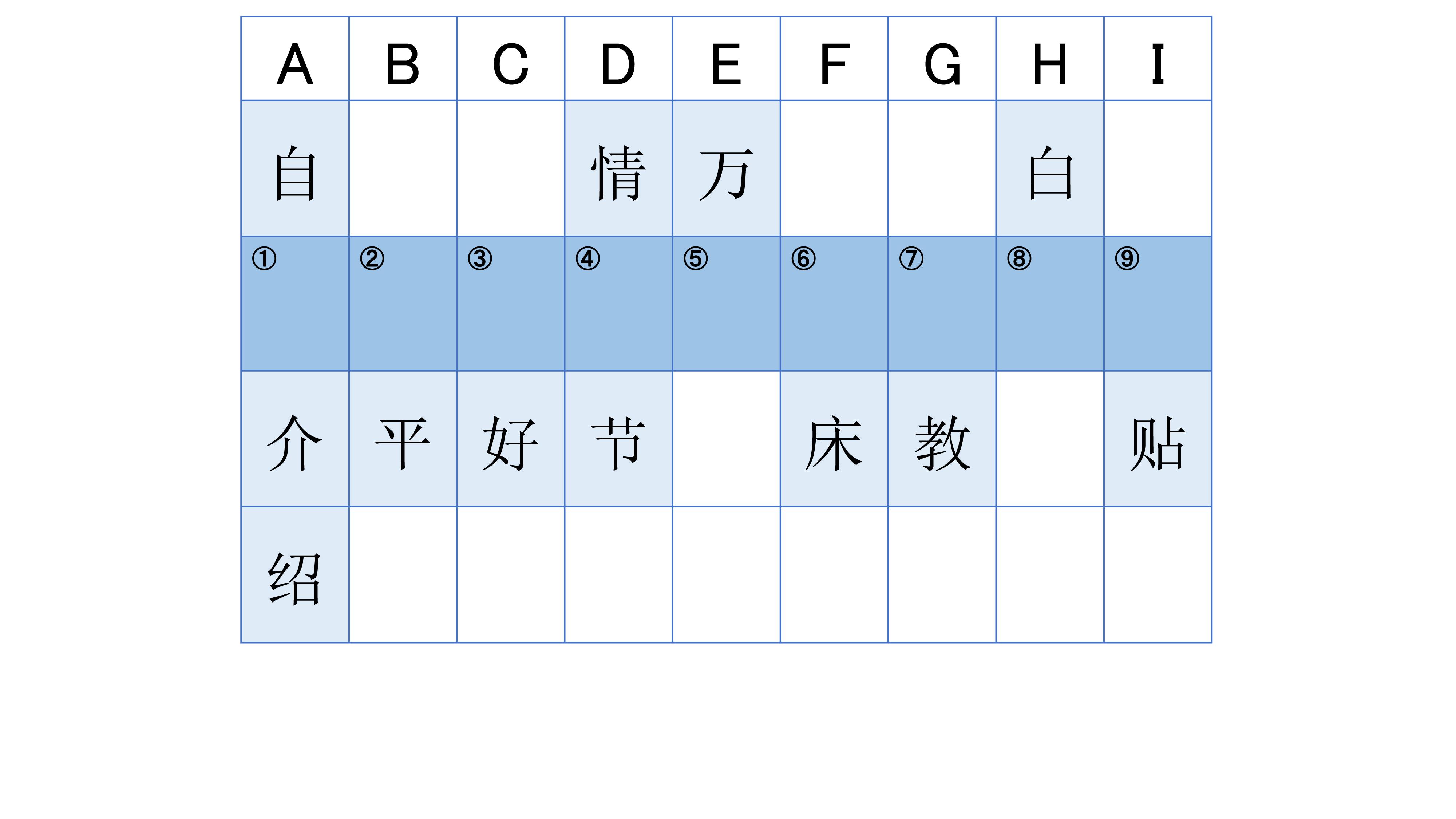 中国語でワードパズル チャイトレ 第1回 駿河台出版社